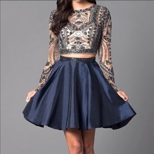 Sherri Hill Navy two piece Prom/Homecoming dress